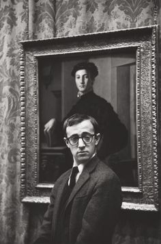 "lottereinigerforever: "" Woody Allen by Ruth Orkin, 1963 """