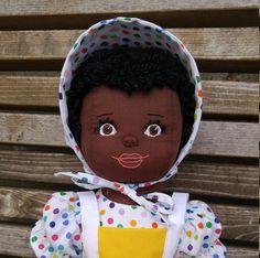 Soft Sculpture Doll Doll with Dark Skin OOAK Rag Doll Rag Dolls, Soft Sculpture, Dark Skin, Handmade, Bags, Fabric Dolls, Handbags, Taschen, Craft