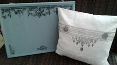 Decorating Pillows and a bulletin board with IOD Stamps