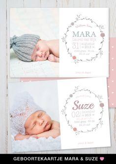 Een lief geboortekaartje met foto van jullie pasgeboren kleintje. charlyfine.nl