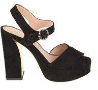 Tory Burch Women's Black Suede Sandals.