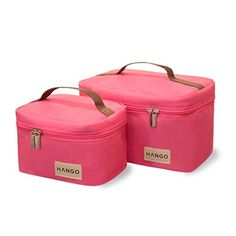 Lunch Bag Hango - Set of Two Sizes (Small and Large) - Pink Deluxe Insulated Bags for Adults and Children with a Beautiful Cotton Gift Bag - Durable Product for Women and Men - Premium Design with Totes - Perfect Cooler Reusable Box to Carry Your Food and Snack - Protect Your Investment - Best Lifetime Guarantee! Attican http://www.amazon.com/dp/B00P2T2BOC/ref=cm_sw_r_pi_dp_0ddPub1PE3595