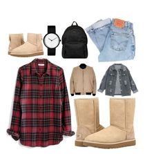 """The Icon Perfected: UGG Classic II Contest Entry"" by stella-thoma ❤ liked on Polyvore featuring Madewell, Levi's, UGG, River Island, Hogan, UGG Australia, ugg and contestentry"