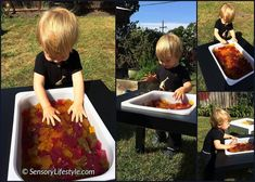 Feeling stuck on what to do with your child this weekend? Try these sensory play activities with your child. Tactile Activities, Preschool Activities, Sensory System, Toddler Development, Sensory Integration, Messy Play, Animal Books, Gross Motor Skills, Feeling Stuck