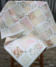 A variety of vintage sheets combined with great effect in this quilt.