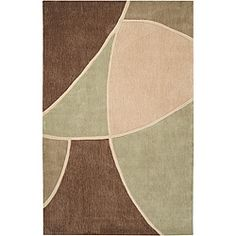 @Overstock - This beautiful rug features a beautiful abstract pattern with durable polyester construction. This rug features a brown background with highlights of beige, tan and green.http://www.overstock.com/Home-Garden/Hand-tufted-Brown-Abstract-Rug-8-x-11/5509833/product.html?CID=214117 $287.97