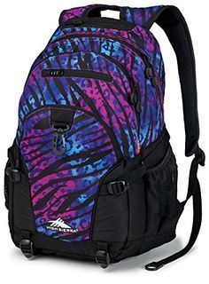High Sierra Loop Backpack (19 x 13.5 x 8.5-Inch, Wild Print/Black)  - Click image twice for more info - See a larger selection of blue backpacks at http://kidsbackpackstore.com/product-category/red-backpacks/. - kids, juniors, back to school, kids fashion ideas, teens fashion ideas, school supplies, backpack, bag , teenagers girls , gift ideas, blue