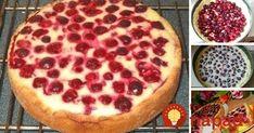 Šťavnatý tvarohovo-čerešňový koláč