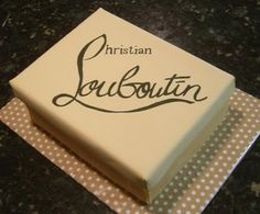 This Louboutin shoebox cake was a birthday cake for a big SHAM Bakery fan…