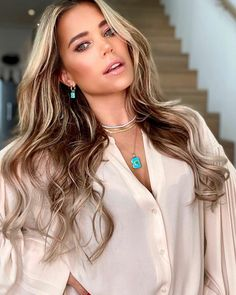 Sylvie Meis Style, Beauty Hacks, Beauty Tips, Turquoise Necklace, Beauty Makeup, Make Up, Earrings, Hair, Instagram