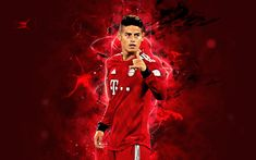 James Rodriguez Wallpapers, Neon, Colorful Wallpaper, Munich, Soccer, Wonder Woman, Superhero, Sports, Messi