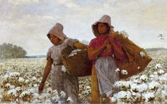"Winslow Homer, American artist, 1836-1910 - ""The Cotton Pickers"""
