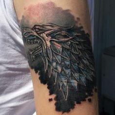 House Stark Sigil tattoo from Game of THrones Game Of Thrones Tattoo, Tatouage Game Of Thrones, Tattoos Skull, Wolf Tattoos, New Tattoos, Tatoos, House Stark Sigil, Gaming Tattoo, Pin Up