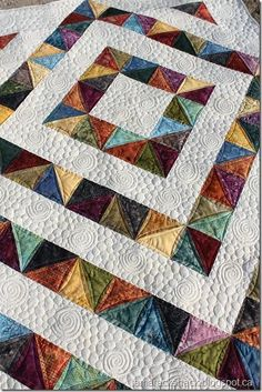 Free Tutorial – Four Patch Charm Quilt by Kathy Schwartz - quilt patterns Quilting Tutorials, Quilting Projects, Quilting Designs, Quilting Ideas, Charm Quilt, Charm Pack Quilts, Lap Quilts, Scrappy Quilts, Half Square Triangle Quilts