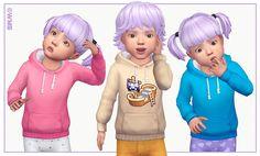Toddler Hoodies I by WMS via blogspot I Sims 4 I TS4 I Maxis Match I MM I CC