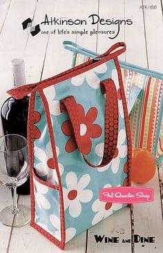 Wine and Dine Tote Bag Pattern Atkinson Designs #ATK-155