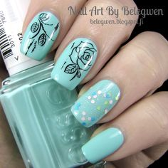 Nail Art By Belegwen: Essie Blossom Dandy and Gina Tricot Fairy Dot