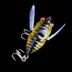 Cicada 6g Perch Insect Lure Bait Fishing Lifelike Bait with Hooks -- Be sure to check out this awesome product.