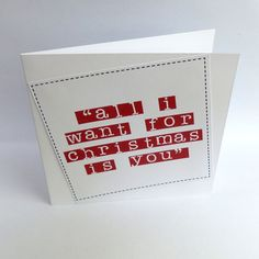 a cute christmas card to give to a special relation or friend