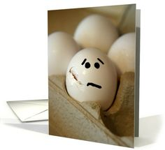 Sorry about your accident--cracked egg | Greeting Card Universe by JenGogh Designs