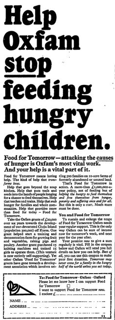 Oxfam. 4 April, 1967
