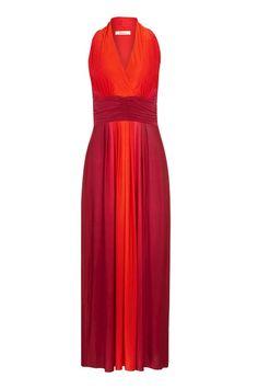 Red Rosa Ombré Maxi Dress