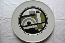 "Mikasa CONGLOMERATE EPIQURE ONE 4510 Large Dinner Plate GEOMETRIC 11"" Vintage"