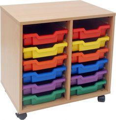Classroom Storage - 12 Tray Unit, would be great for sketchbooks