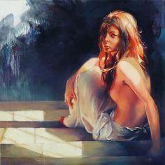 "Ivan Alifan Jdanov aka Ivan Alifan 1989 - Russian-born Canadian painter | ""Catching The Sun"" by Ivan Alifan"