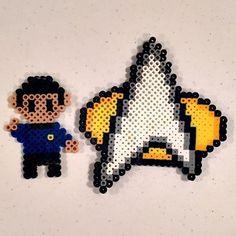 Star Trek perler beads by tamolleh