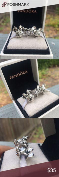 Pandora Couple Set Minnie Mouse Love heart Mickey Mouse Disney pandora no box Pandora Jewelry Bracelets