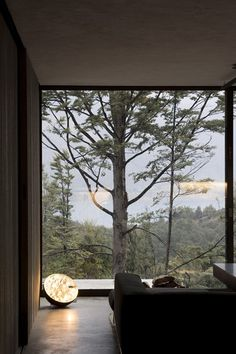 PIN 9: By using a large floor to ceiling window, a striking visual affect is created with the focus being on the unobstructed view of the magnificent outdoors.