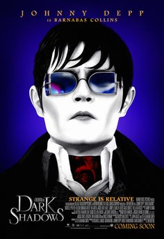 Dark Shadows Dark Shadows is an fantasy comedy film based on the gothic soap opera of the same name. The film is directed by Tim Burton and stars Johnny Depp as Barnabas Collins, a. Sweeney Todd, Johnny Depp Dark Shadows, Dark Shadows Movie, Johnny Dark, It's Johnny, Film Tim Burton, Tim Burton Johnny Depp, Helena Bonham Carter, Tv Shows