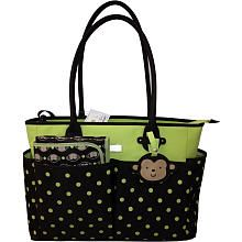 Carter S Monkey Tote Bag Brown Green Dot Carters Babies