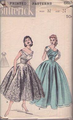 Butterick 6810 evening dress