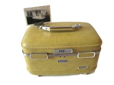 Vintage American Escort Train Case  1950s Yellow by Relic189, $40.00