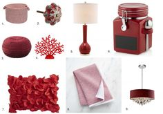 Get the Look - Red Home Decor Items Red Home Decor, Home Decor Items, Get The Look, Spring Time, Mood Boards, Projects To Try, Valentines, Room, Inspiration