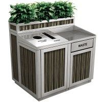 Recycling Storage, Recycling Station, Food Court Design, Garbage Containers, My Coffee Shop, Bar Interior, Trash Bins, Greens Recipe, Restaurant Design