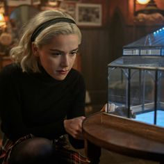"""This show's many disparate threads are finally getting braided together in a way that makes sense. A recap of Netflix's """"Chilling Adventures of Sabrina, Part episode seven, """"The Miracles of Sabrina Spellman. Archie Comics, Sabrina Costume, Harvey Kinkle, Kiernan Shipka, Sabrina Spellman, Believe In Miracles, Dark Lord, Wallpaper Iphone Cute, Series Movies"""