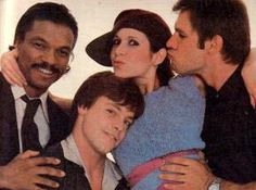 Billy Dee Williams, Mark Hamill, Carrie Fischer and Harrison Ford Star Wars cast
