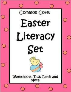 The Easter Literacy Set by The Teacher Next Door is a 46 page set filled with Common Core reading and writing activities that are just right for most 4th and 5th graders. There are worksheets that target inferences, cause and effect, compare and contrast, and citing evidence from the text. A set of 32 Figurative Language Task Cards is included, along with a narrative writing activity, and 2 different kinds of poetry pages. This unit has a variety of rigorous but entertaining materials. $
