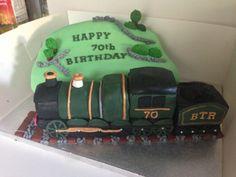 70th Birthday Steam Train Cake