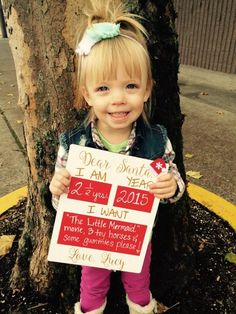 Dear Santa Sign with our little model  Lucy