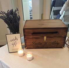 Wood Wedding Card Box with Latch Wedding Money Box Wedding Rustic Card Box Wedding, Money Box Wedding, Wedding Gift Boxes, Wedding Cards, Wedding Ideas, Wedding Decorations, Cricut Wedding, Wedding Hire, Wedding Tables