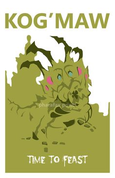 Kog'Maw League of Legends Print by pharafax on Etsy, $16.00