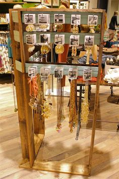 anthropologie jewelry display www imgkid the image anthropologie jewelry display www imgkid the image - Jewelry Display Craft Fair Displays, Market Displays, Store Displays, Display Ideas, Boutique Displays, Retail Displays, Booth Ideas, Retail Shop, Jewellery Storage