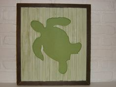 Sea Turtle silhouette cutout made from recycled wood pallets