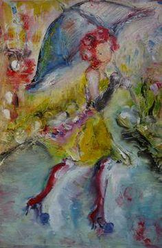 "Saatchi Art Artist MP XQS-I; Painting, ""I don't need umbrella"" #art"