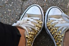 Studded converse - time for some diy