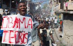 Haiti Protesting Their Earthquake $$ Loss